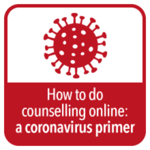 Badge for online counselling dusing coronavirus pandemic